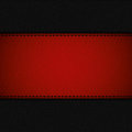 Red leather stripe on black leather background vector Royalty Free Stock Image