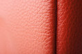 Red leather texture and background Royalty Free Stock Photo