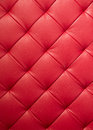 Red leather texture of modern sofa Royalty Free Stock Photo