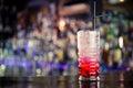 Red lemonade on the bar fresh Stock Photo