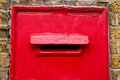 Red letter box Royalty Free Stock Photo