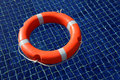 Red life buoy Royalty Free Stock Photography
