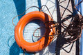 Red life buoy Stock Images