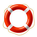 Red life buoy Royalty Free Stock Photo
