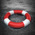 Red life buoy Royalty Free Stock Images