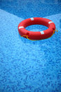 Red life buoy Stock Image