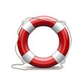 Red life buoy white background vector illustration Royalty Free Stock Photo