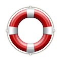 Red life buoy white background vector illustration Stock Photography