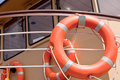 Red lifebuoy Royalty Free Stock Photo