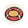 Red lifebuoy comics icon