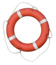 Red lifebuoy isolated Royalty Free Stock Photo