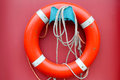 Red lifebuoy Royalty Free Stock Photo
