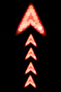 Red light arrow up sign. Royalty Free Stock Photo