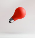 Red light bulbs floating Royalty Free Stock Photo