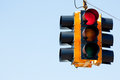 Red light traffic signal with copy space Royalty Free Stock Photo