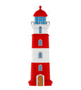 Red Lighthouse Isolated Royalty Free Stock Photo