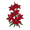Red Lily on white background. Royalty Free Stock Photo