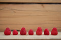 Red line raspberries Royalty Free Stock Photo