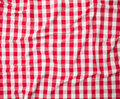 Red linen crumpled tablecloth texture background Royalty Free Stock Photo