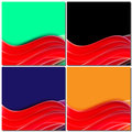 Red lines, wave motion, Design abstract background for business Royalty Free Stock Photo