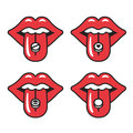 Red lips illustration Royalty Free Stock Photo