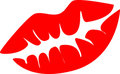 Red lips vector illustration Royalty Free Stock Photo