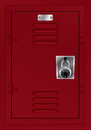 Red Locker and Combination Lock Illustration Royalty Free Stock Photo