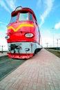 Red locomotive Stock Image