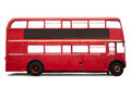 Red London bus, double decker on white Royalty Free Stock Photo