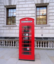 Red London Phone Box Royalty Free Stock Photo