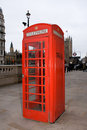 Red London Telephone Box Stock Image