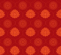 Red lotus seamless background Stock Images