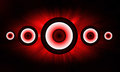 Red Loudspeaker background Royalty Free Stock Photos
