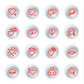 Red love icons Royalty Free Stock Photography