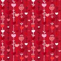 Red love valentin s day seamless pattern craft paper vector illustration your design Royalty Free Stock Photo