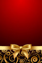Red and luxury frame with gold ribbon vector Stock Photography