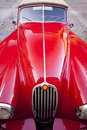 Red luxury retro sports car Stock Photo