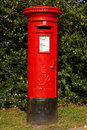 Red mail box Royalty Free Stock Photography