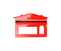 Red mail box isolated Royalty Free Stock Photo