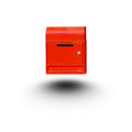 Red mail box isolated white background Royalty Free Stock Photo