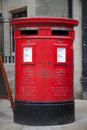 Red mail box in London Royalty Free Stock Photo