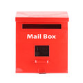 Red Mail box on white background Royalty Free Stock Photo