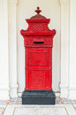 red mail letter box Royalty Free Stock Photo