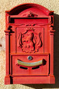 Red mailbox Stock Photography
