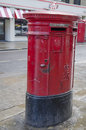 Red mailbox in london england Royalty Free Stock Photography