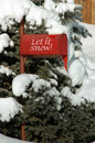 Red mailbox in the snow Royalty Free Stock Photo