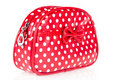 Red makeup bag Stock Image