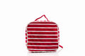 Red makeup bag on white background accessory Stock Images