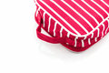Red makeup bag on white background accessory Stock Image