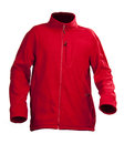 Red male fleece jacket isolated over white Stock Photo